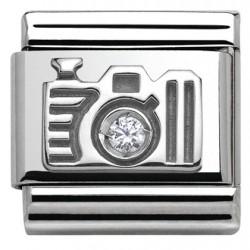 Composable,plata 925,swarovski, camara