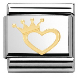 COMPOSABLE ORO CORAZON CON CORONA